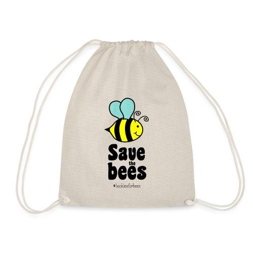 Bees9-1 save the bees   Bienen Blumen Schützen - Drawstring Bag