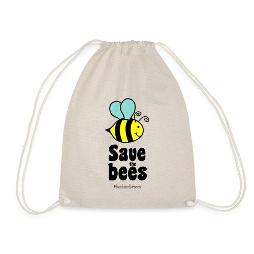 Bees9-1 save the bees | Bienen Blumen Schützen - Drawstring Bag