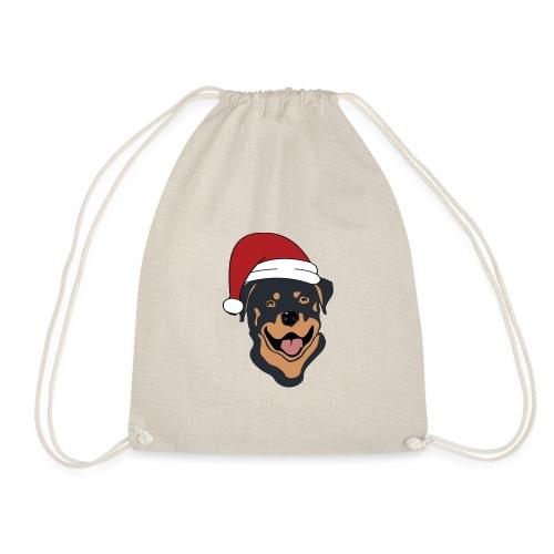 Weihnachtsmann Rottweiler - Turnbeutel