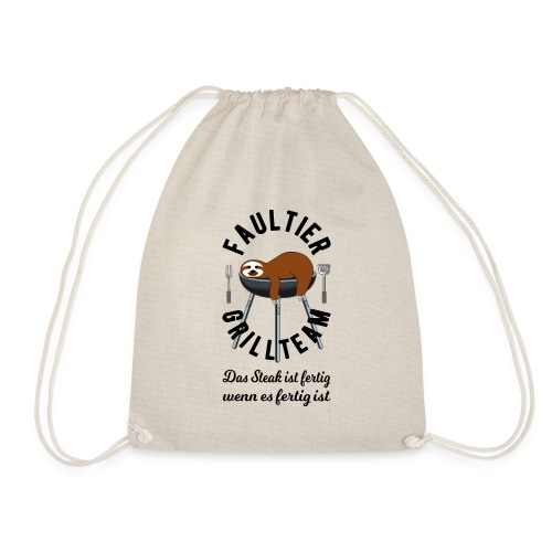Faultier Grillteam - Turnbeutel