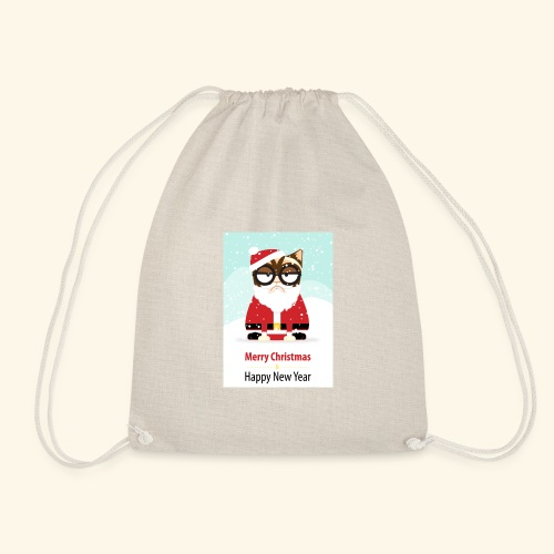 SantaCat - Drawstring Bag