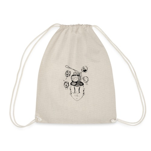 Spaghetti head - Drawstring Bag