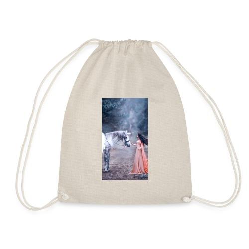 Unicornio con mujer bella - Mochila saco