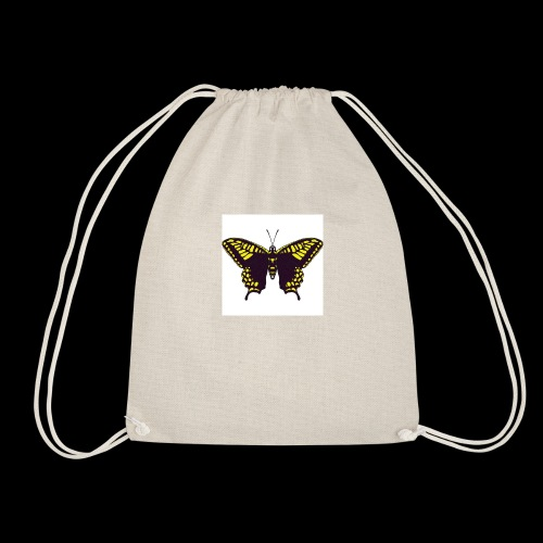 Black & Yellow Butterfly - Drawstring Bag