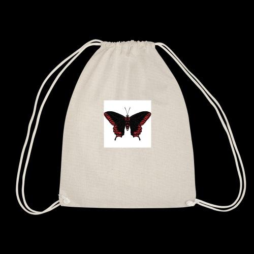 Black & Red Butterfly - Drawstring Bag