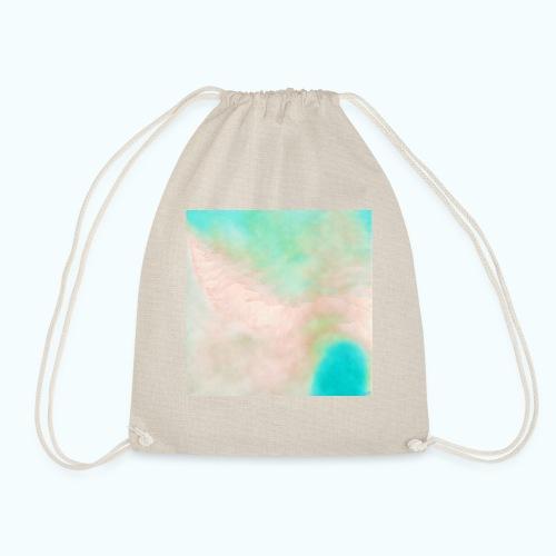 Atoll beach watercolor beige nature - Drawstring Bag