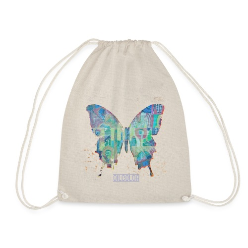 wounded butterfly - Drawstring Bag