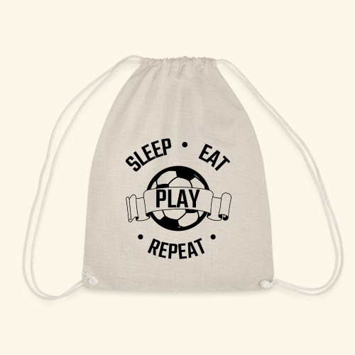 FOOTBALL soccer - Eat sleep play repeat - ballon - Sac de sport léger