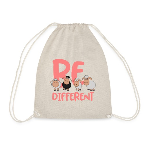 Be different pink sheep - Unique sheep - Drawstring Bag
