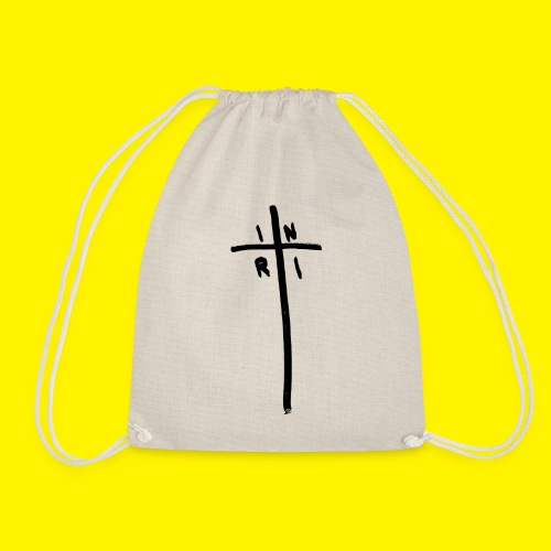 Cross - INRI (Jesus of Nazareth King of Jews) - Drawstring Bag