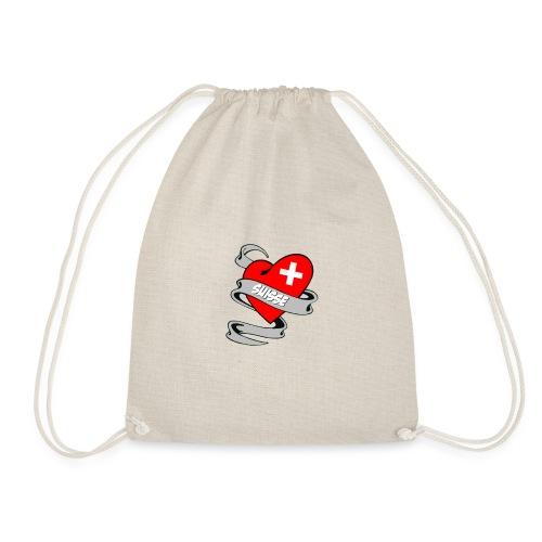 Mon coeur est pour la Suisse - Drapeau Switzerland - Sac de sport léger