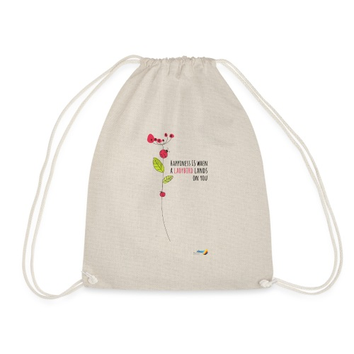 Ladybird Women's T-Shirt - white and ecru - Drawstring Bag
