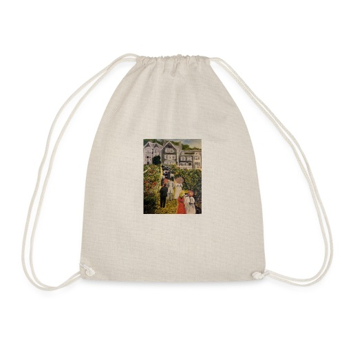 Scottish hotel in the early 19200's - Drawstring Bag