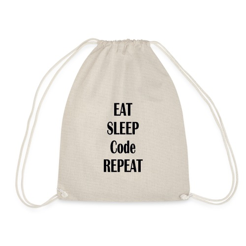 EAT SLEEP CODE REPEAT - Turnbeutel
