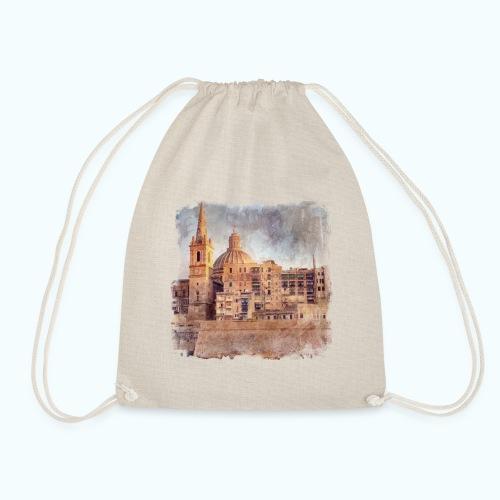 Valletta Malta Vintage Design - Drawstring Bag