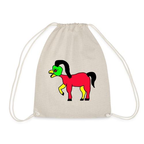 Vogel Pferd Verrückt - Turnbeutel