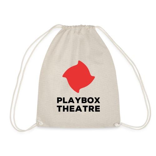 Red Playbox Logo Stacked - Drawstring Bag