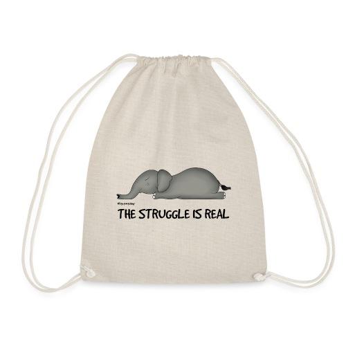 Amy's 'Struggle' design (black txt) - Drawstring Bag