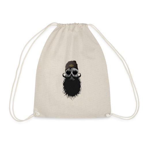 hipster skulls tete de mort crane bonnet moustache - Sac de sport léger