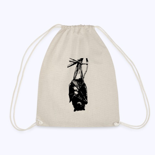 HangingBat schwarz - Turnbeutel
