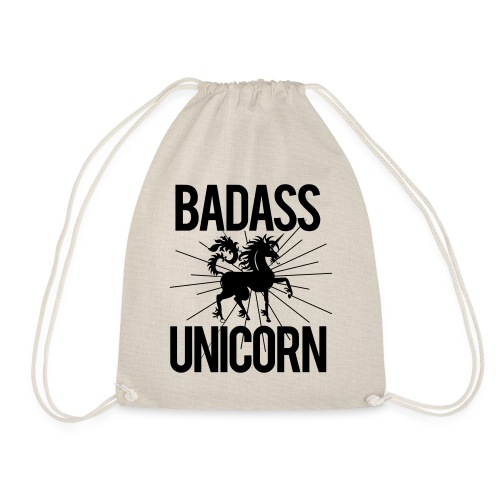 Badass Unicorn - Drawstring Bag