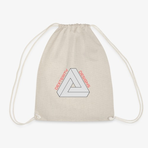 Modern Triangular Dexterity Logo - Drawstring Bag