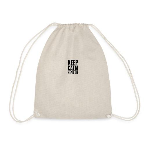 Keep Calm Peak On (Black) - Drawstring Bag