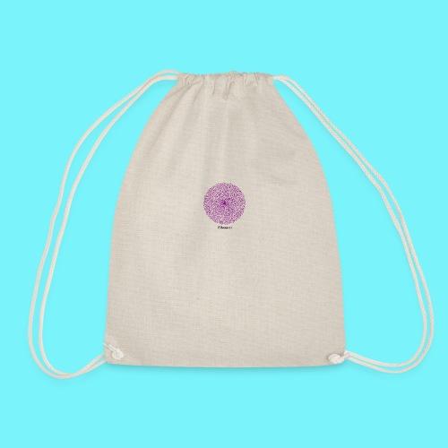 Fibonacci webs in purple - Drawstring Bag