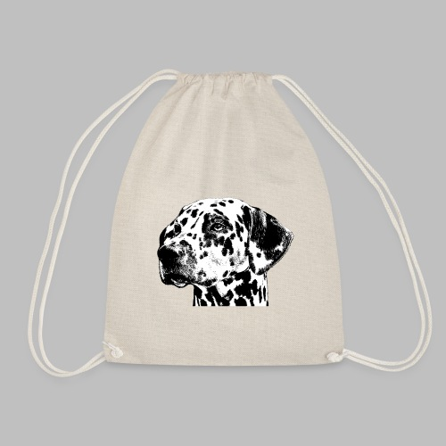 Dalmatiner Kopf Hund - Turnbeutel