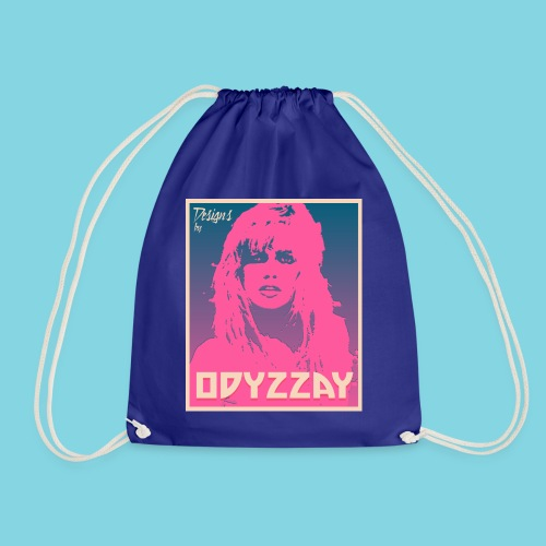 80s Girl Pink - Drawstring Bag