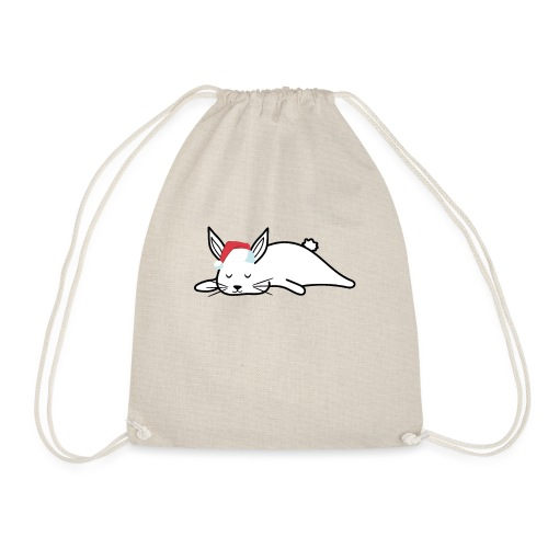 Süßes Kaninchen Design zu Weihnachten als Geschenk - Turnbeutel