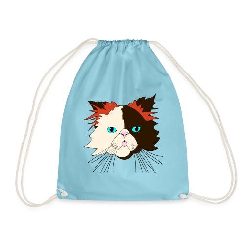 Katze - Brownie - Theophil-Nerd - Turnbeutel