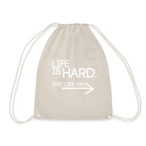 Buried Shirts Life Is Hard White - Drawstring Bag