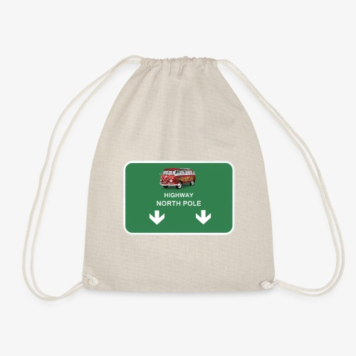 highway to the North Pole - Drawstring Bag