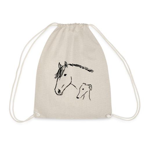 Windhund und Pferd - Turnbeutel