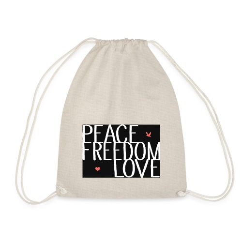 PEACE FREEDOM LOVE - Turnbeutel
