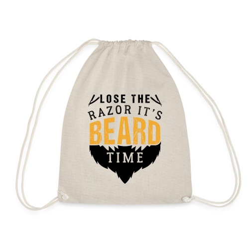 Lose The Razor It's Beard Time Funny Gift - Turnbeutel