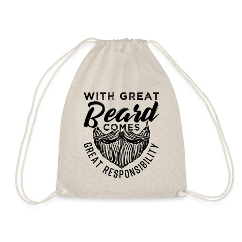 With Great Beard Comes Great Responsibility Gift - Turnbeutel