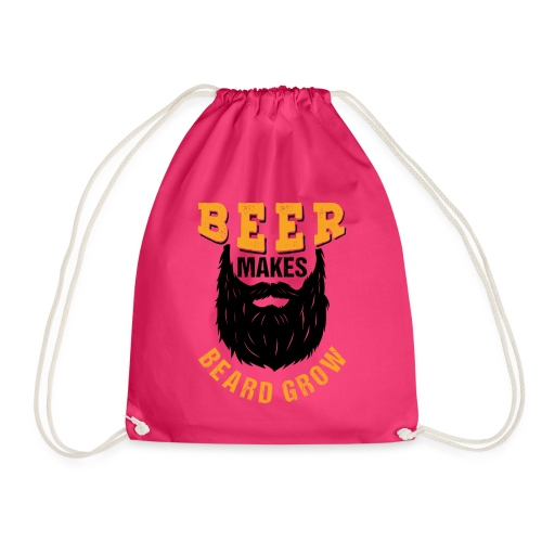 Beer Makes Beard Grow Funny Gift - Turnbeutel