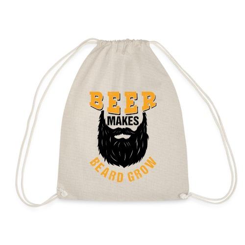 Beer Makes Beard Grow Funny Gift - Turnbeutel