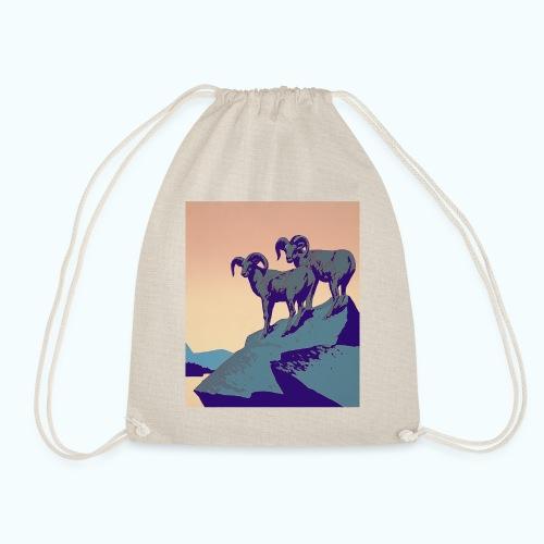 Vintage Capricorn Travel Poster - Drawstring Bag