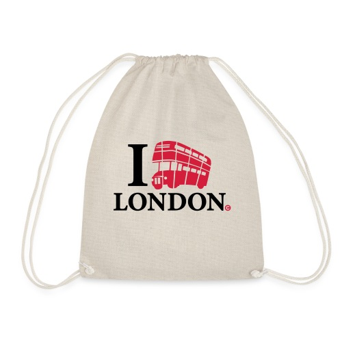 I love (Double-decker bus) London - Drawstring Bag
