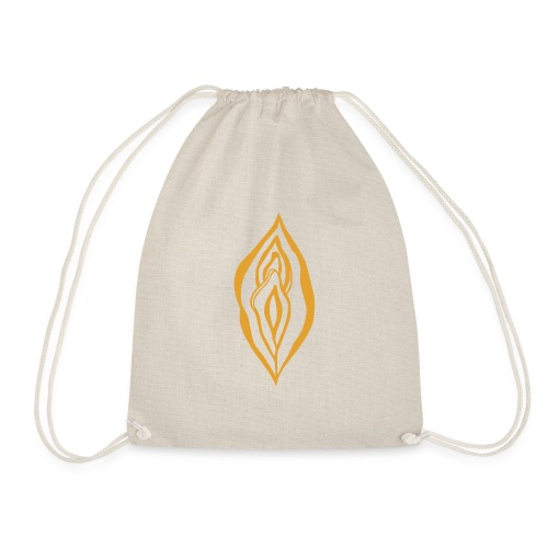 Yoni Magic Gold Queen Female Power Pussy Power - Drawstring Bag