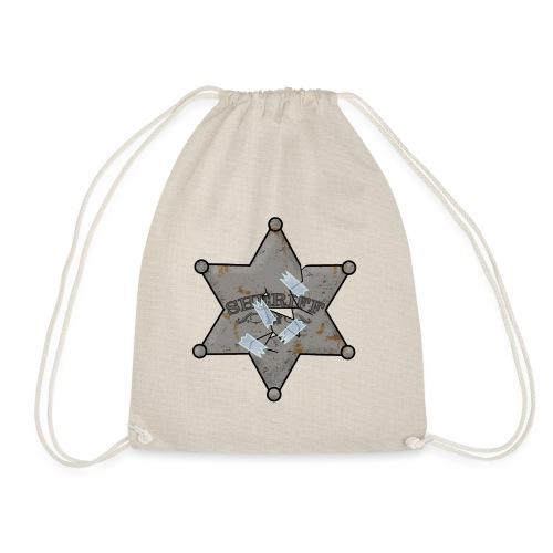 Rusty Sheriff's Badge - Drawstring Bag