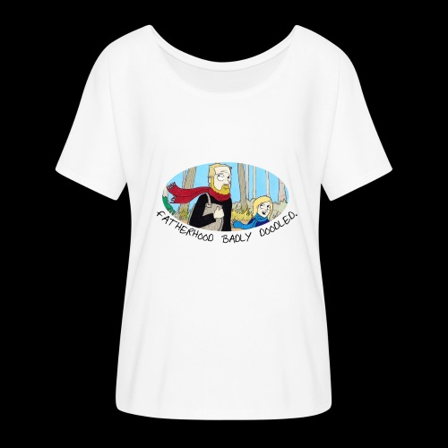 Fatherhood Badly Doodled - Women's Batwing-Sleeve T-Shirt by Bella + Canvas