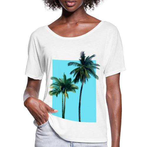 Palms - Women's Batwing-Sleeve T-Shirt by Bella + Canvas