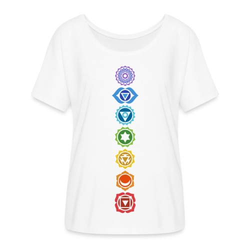 The 7 Chakras, Energy Centres Of The Body - Women's Batwing-Sleeve T-Shirt by Bella + Canvas
