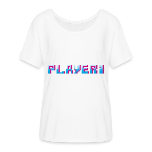 Arcade Game - Player 1 - Women's Batwing-Sleeve T-Shirt by Bella + Canvas