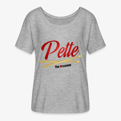 Pette the Drummer - Women's Batwing-Sleeve T-Shirt by Bella + Canvas