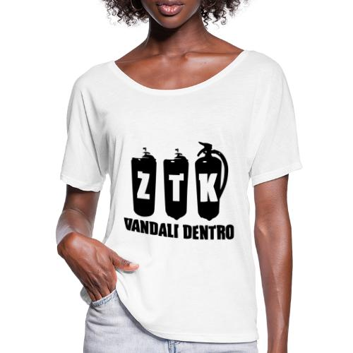ZTK Vandali Dentro Morphing 1 - Women's Batwing-Sleeve T-Shirt by Bella + Canvas
